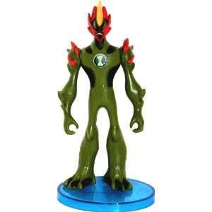 Ben 10 Articulated Alien Figure 4 Heatblast with Stand