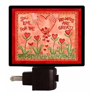 Valentines Day Night Light   Sow Love   Heart Flowers