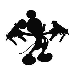 Mickey Mouse Uzi Guns Die Cut Decal Vinyl Sticker   6