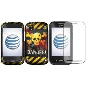 Danger Design Hard Case Cover+LCD Screen Protector ZTE Merit 990G