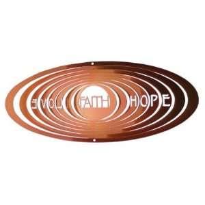 1125 12 3 Classic Faith Hope Love Spinner Wind Chime