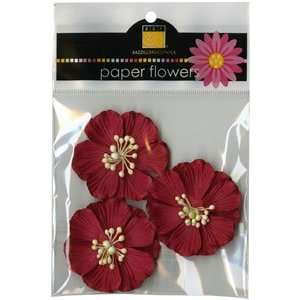 Paper Flowers Wild Rose 2 Crimson 3/Pkg: Home & Kitchen