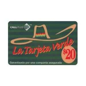 Collectible Phone Card $20. La Tarjeta Verde (Green Card