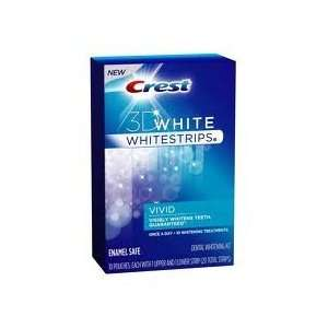 Crest 3d White Whitestrips Dental Whitening Kit, Vivid, 20