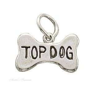Sterling Silver Top Dog Charm Arts, Crafts & Sewing