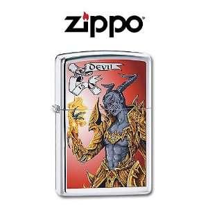 Zippo   Tarot Devil  High Polish Chrome