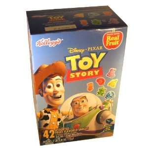 Kelloggs Toy Story Gummy Gummi Snack Candies 42 Pouch Assorted Box