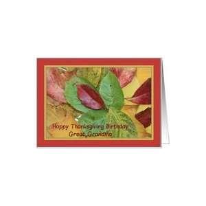 Happy Thanksgiving birthday card fall foliage great