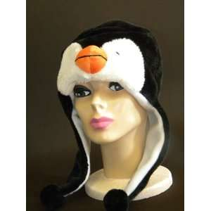 Plush Penguin Animal Hat High Quality polyester Brand New