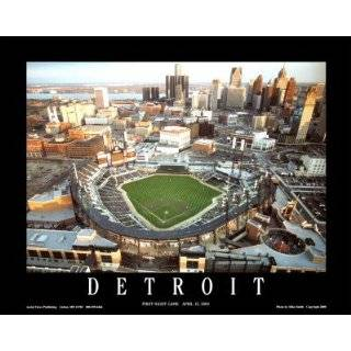 MLB Detroit Tigers Inside Comerica Park Mural Wall Graphic