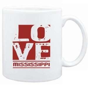 Mug White  LOVE Mississippi  Usa States Sports