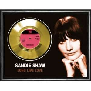 Sandie Shaw Long Live Love Framed Gold Record A3