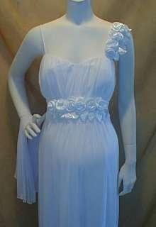 New Long White Maternity Wedding Dress Roses MEDIUM NWT