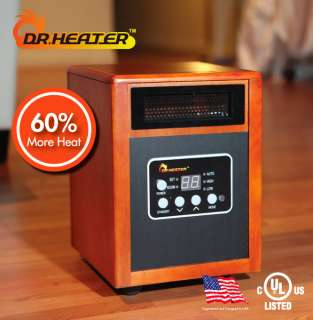 Best Quartz Infrared Heater UL listed 60% more Heat