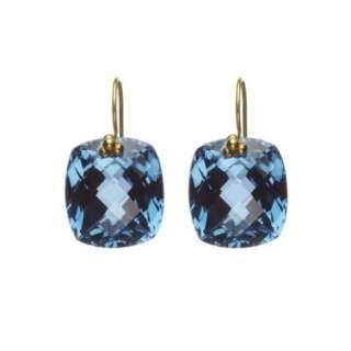 London Blue Topaz Cushion Drop Earrings  Nikki Baker