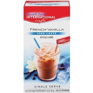 Maxwell House International Coffee French Vanilla Iced Latte Singles