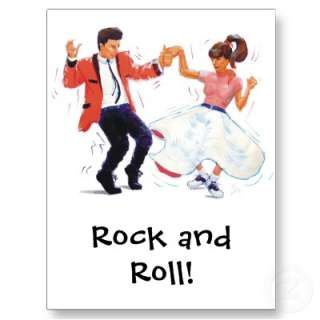 Classic Rock and Roll Jive Dancing Postcard by strictlydancefun
