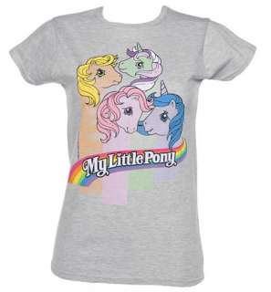 Ladies My Little Pony Stripes T Shirt  TruffleShuffle