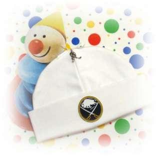 BUFFALO SABRES ~ Newborn Baby Beanie Hat & HOCKEY CHARM