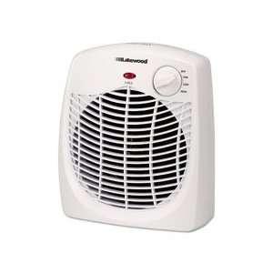 LAKPH15 Personal Fan Forced Heater/Fan, White, 9.75w x 5d
