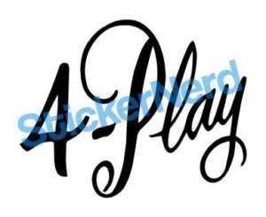 Play Sticker Funny Vinyl Decal Graphic #0157