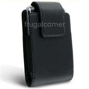New Original OEM BlackBerry Premium Black Leather Case Cover Pouch
