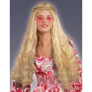 Forum Retro 60s 70s Hippie Costume Long Blonde Braid Wig: Toys & Games