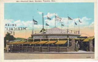 Mexicali Beer Garden Bar Tijuana Mexico W/B Postcard