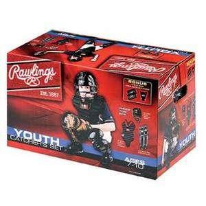 CATCHERS GEAR SET~Rawlings Youth Baseball Ages 7 10~Helmet Shin