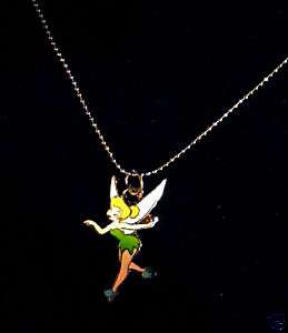 Tinker Bell necklace silver chain 1 charm