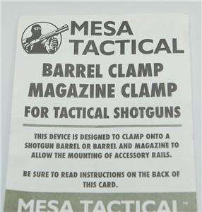 Mesa Tactical REMINGTON 870 Benelli Shotgun Picatinny MAG Barrel Clamp
