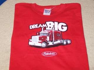 DREAM BIG Peterbilt Motors Company   Big Rig Truck T Shirt New NWT