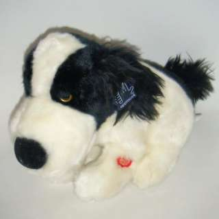 Animated Black White Dog Singing PUPPY LOVE Plush Valentines Day MWT