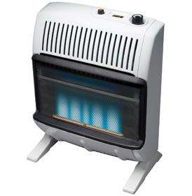 vent free blue flame propane gas heater by ashley convenient top