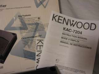 Kenwood KAC 7204 Car Stereo/Bridgeable Power Amplifier 019048176929