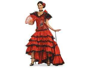 Super Deluxe Red Spanish Beauty Costume   Mexican and Spanish Costumes