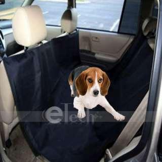Nylon Hammock Pet Dog Cat Car Seat Cover Black 43x21