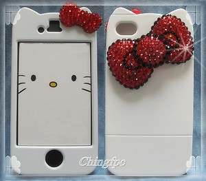 Sweet Deco Bling Rhinestone Crystal Bow Case Cover for iPhone 4 4S _WK