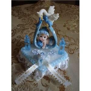 Baby Shower Boy/birthday Cake Topper Decoration Favor