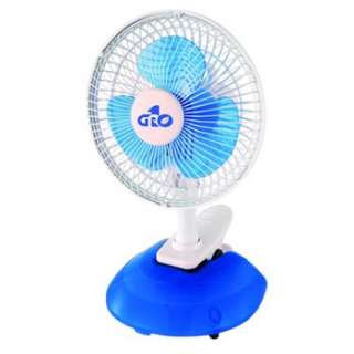 Gro1 6 INCH QUIET ELECTRIC 2 SPEED Clip Desk Fan SMALL COMPACT