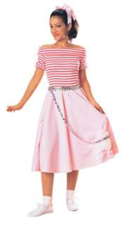 Adult Std. Adult Pink Nifty Fifties Dress Costume   Fif