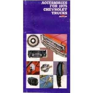 1975 CHEVROLET TRUCK Accessories Sales Brochure Book