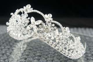 Lavish Bridal Swarovski Rhinestone Crystal Crown Tiara
