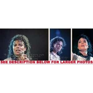 MICHAEL JACKSON DANGEROUS TOUR UPCLOSE (3) RARE 8x10 FINE