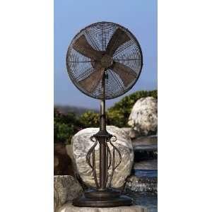 Brown Deco Adjustable Outdoor Standing Floor Fan