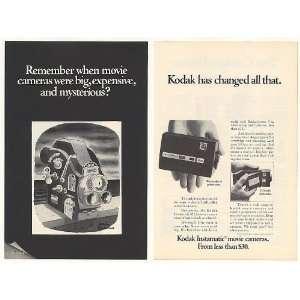 1968 Kodak Instamatic Movie Camera Charles Addams art 2 Page Print Ad