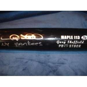 Gary Sheffield 500 Homerun Club (Soon) Signed Auto Bat w/Inscription