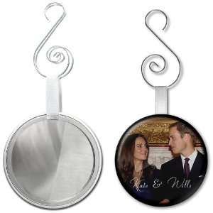 Prince William Kate Middleton Royal Wedding 2.25 inch Glass Mirror