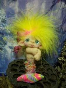 Mermaid Trollie Elf Fairy Ooak Fae Art Doll Troll Pixie Sculpt