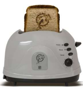 toaster featuring the miami dolphins logo toasts bread english muffins